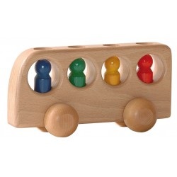 Bus met 4 mannetjes naturel