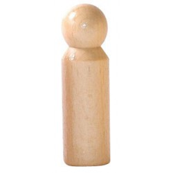 Poppetjes of Peg dolls naturel (5 stuks)