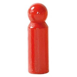 Poppetjes of Peg dolls rood (5 stuks)