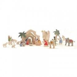 Kerststal mini met bogen complete set