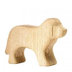 Blank houten hond