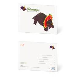 Pukaca felicitatie kaart Triceratops