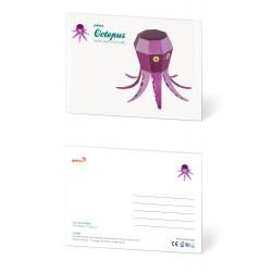 Pukaca felicitatie kaart Octopus