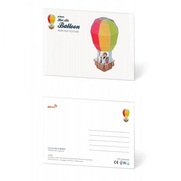 Pukaca felicitatie kaart luchtballon