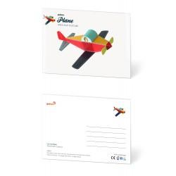 Pukaca felicitatie kaart vliegtuig