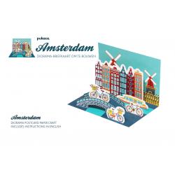 Pukaca felicitatie kaart diorama Amsterdam