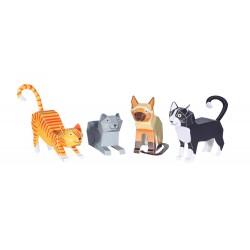 Pukaca Katten 4 stuks