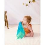 Sarah's Silks Speelzijden en houten bijtring 'zee'