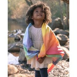 Zijden baby deken regenboog