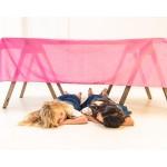Sarah's Silks Katoenen Speeldoek roze XL