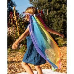 Speelzijden Sluier regenboog/lavendel