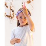 Sarah's Silks Speelzijden Eenhoorn haarband lavendel