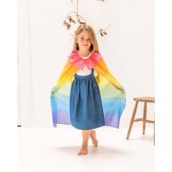 Speelzijden cape regenboog