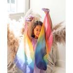 Sarah's Silks Speelzijden Sprookjesjurk lavendel/regenboog