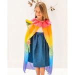 Sarah's Silks Speelzijden cape regenboog
