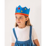 Sarah's Silks Speelzijde Omkeerbare kroon Blauw/Rood