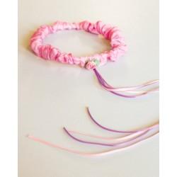 Speelzijden Haarband roze