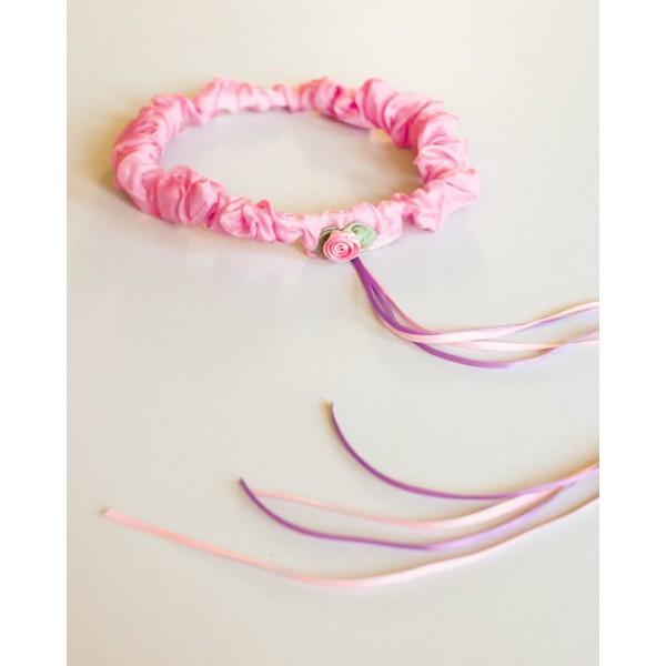 Sarah's Silks Speelzijden Haarband roze