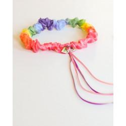 Speelzijden Haarband regenboog