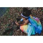 Sarah's Silks Speelzijden Sluier regenboog/lavendel
