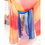 Sarah's Silks Speelzijde large bloesem