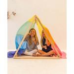 Sarah's Silks Speelzijde large regenboog