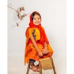 Sarah's Silks Speelzijde medium oranje