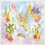 Sarah's Silks Speelzijde mini Onderwaterwereld