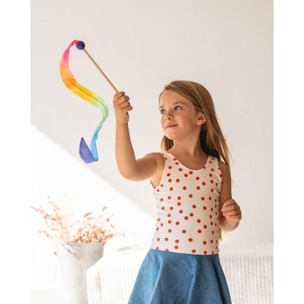 Sarah's Silks Speelzijden wimpel mini regenboog