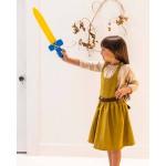 Sarah's Silks Speelzijden zwaard met blauw handvat