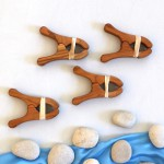Sarah's Silks Kersen Houten Speelknijpers - 2 st
