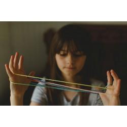 Regenboog touw spelletje