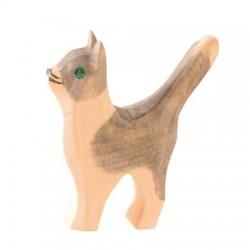 Grijs katje staand