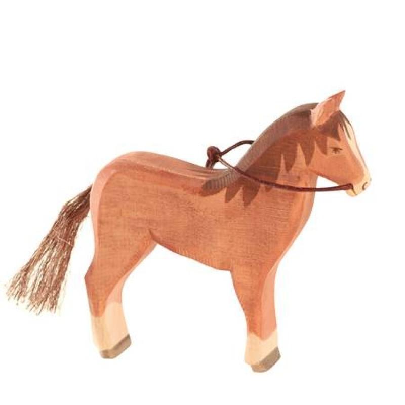 paard voor de auto spannen