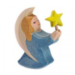 Engel blauw met ster