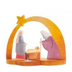 Kerststal met theelicht