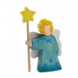 Engel blauw staand met ster