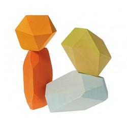 Edelstenen pastel gekleurd