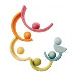 Grimm's Houten ballen pastel 6 stuks