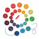 Grimms Rijg spel grote schijven regenboog kleuren