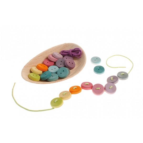 Rijg spel kleine schijven pastel kleuren