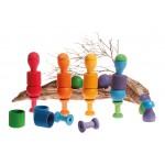 Sorteerspel paddenstoel regenboog 12 stuks