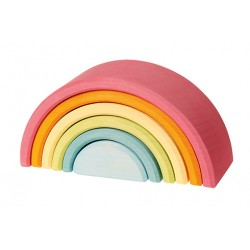 Regenboog Pastel middel 6-delig