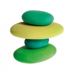 Kiezelstenen mos groen