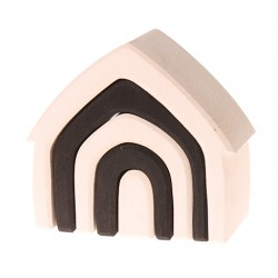 Grimm's huis monochrome zwart wit