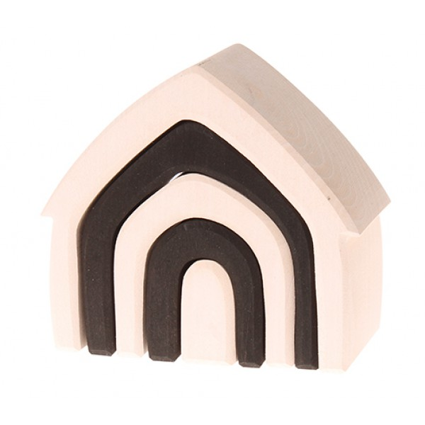 Grimms Grimm's huis monochrome zwart wit