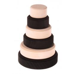 Grimm's toren klein monochrome zwart wit