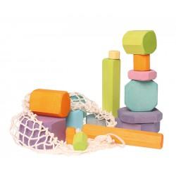Blokken gekleurde Schijven