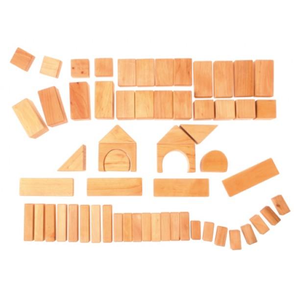Grimms Blokken geometrisch naturel 60