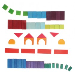 Blokken geometrisch gekleurd 60
